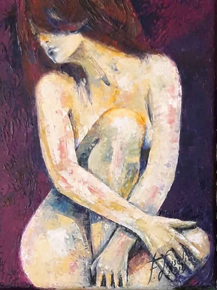 desnudo - óleo espátula - 3